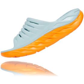 Hoka One One Ora Recovery Slide Sandalen Damen blue haze/bright marigold